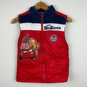 Disney Pixar Cars Vest Red Graphic Patch Puffer 7